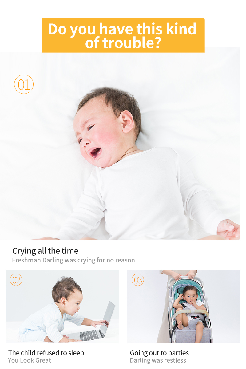 Baby Sound Machine for Sleep Portable Sleep Soother Gentle 6 Sounds Include Lullaby, Fetal Heartbeat, White Noise, Shush, Ocean