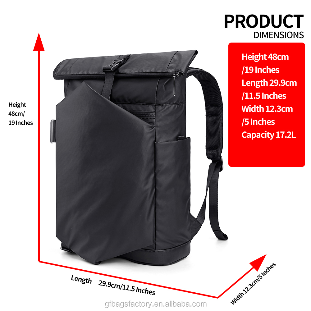 mochilas New products  functional waterproof backpack with interior compartment anti theft laptop business bag