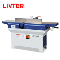 LIVTER Heavy Duty Manual Wood Thickenesser Table Jointer Woodworking Surface Planing Machine with Spiral Cutter Head