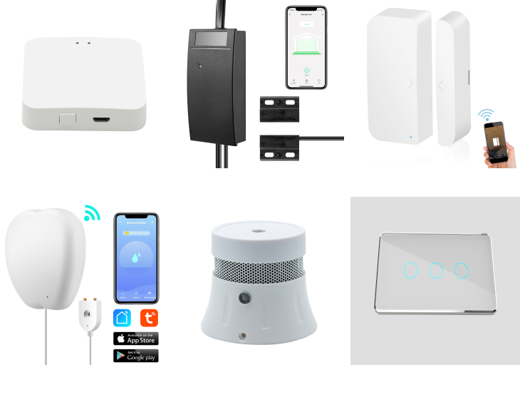 Smart Zigbee Temperature Humidity Sensor Push Alert Tuya Smart Works with Alexa and Google Assistant