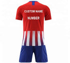 new season hot clubs red white jersey football accept printing name and number