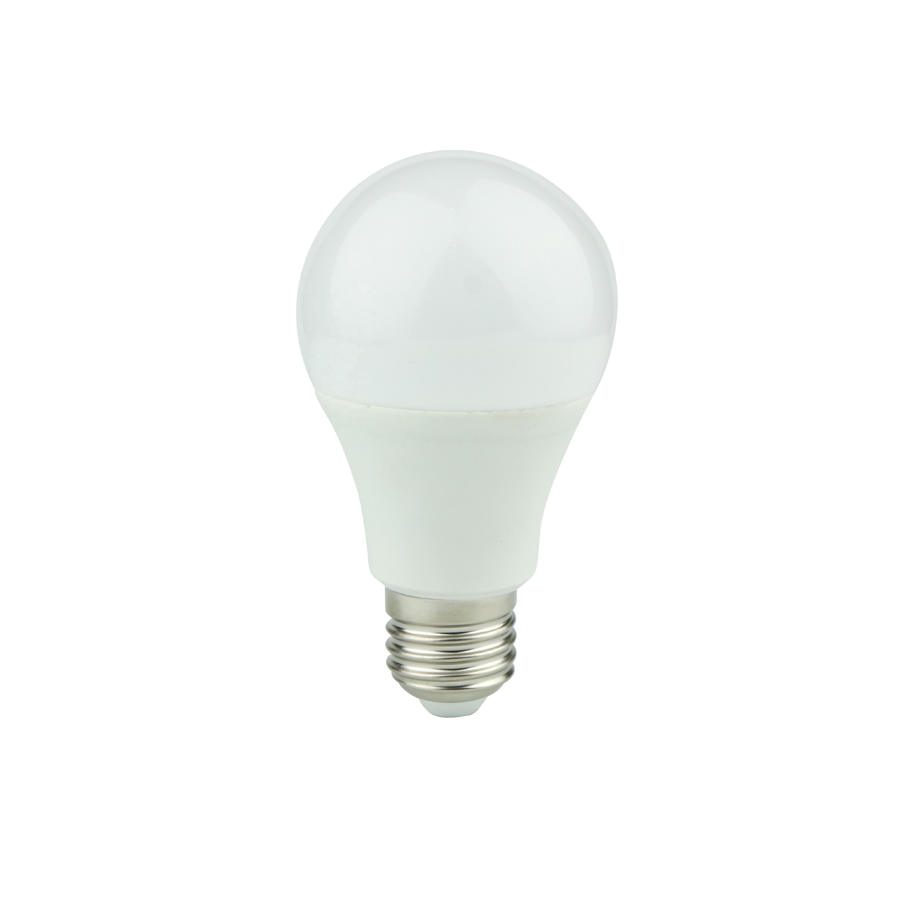 led bulb plastic and aluminum lamp A60 E27 base 12W Cold white ar retail