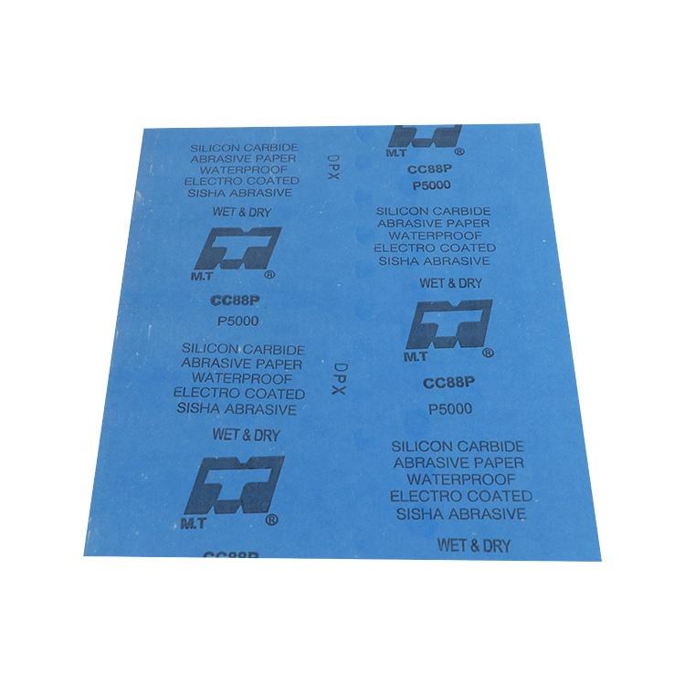 Wetdry p400 사포 벽 연마재 코팅 종이 블루 방수 라텍스 모래 종이 제조