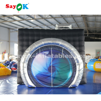 Popular led lighting inflatable photo booth enclosure for sale