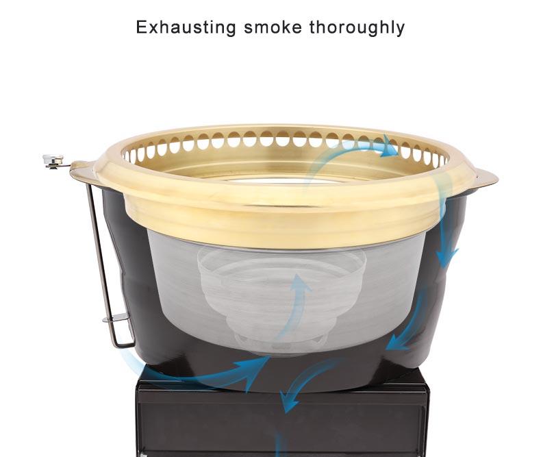 מסחרי יפני מנגל נטול עשן תוצרת פחם גריל תנור קוריאני שולחן מנגל תנור גריל מסעדה צלייה ציוד