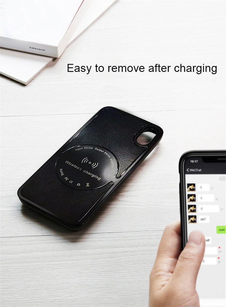 Good price 2019 hot selling 5000mAh wireless phone charger case for iphoneX