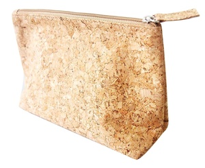 New Arrival Popular Fashion Cosmetic Organizer Zip Pouch Cork Makeup Bag