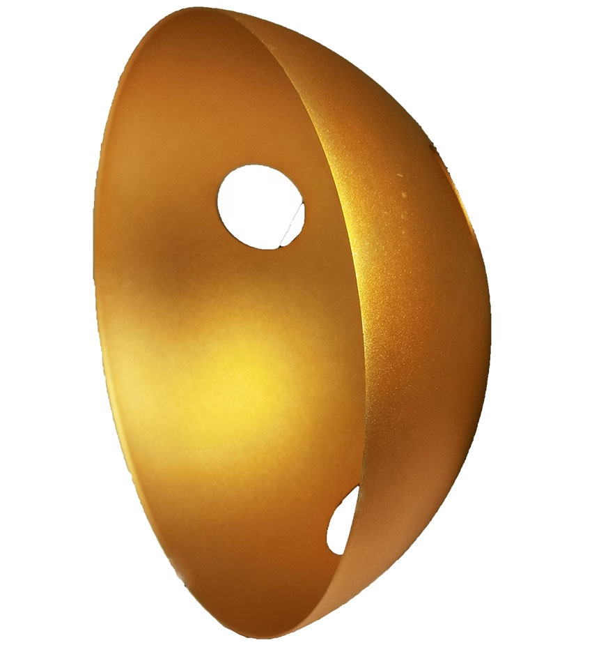 OEM/ODM manufacte lighting cover foll punching deep drawing sheet metal parts with golden