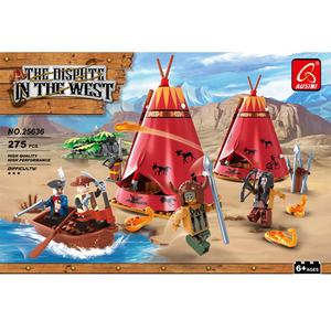 Game enlighten pirate figure little sailboat forest building block toy for 8 year olds