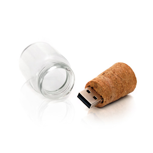 4GB 8GB 16GB Cork Bottle Glass Wooden USB 2.0 Flash Drive for wedding giveaways