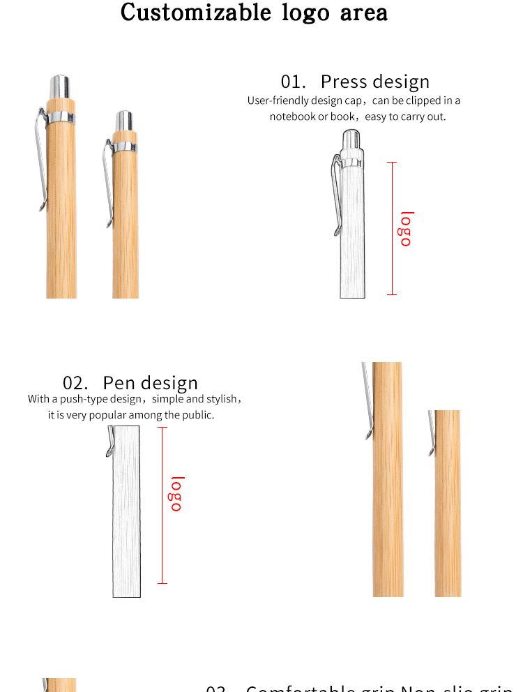 Wholesale Cheap Wooden Pen Best Quality Promotional Bamboo Ballpoint Pen