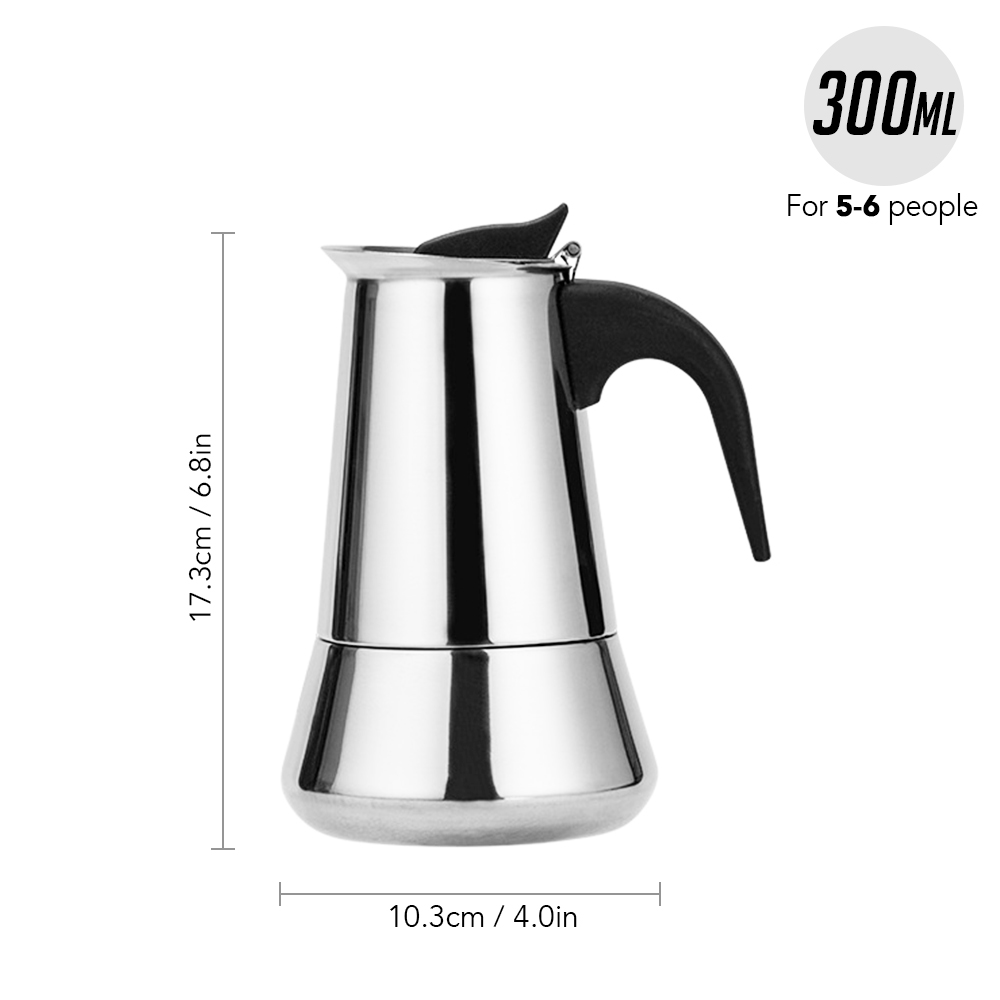 100/200/300/450 мл Плита Кофе горшок Нержавеющаясталь эспрессо Кофе чайника на открытом воздухе посуда для пикника Cafeteira(Китай)