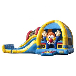 High Quality Customized Inflatable Bouncer Castle Clown Super Jumping house Combo with Pool Slide