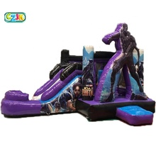 Panther <span class=keywords><strong>Hitam</strong></span> Inflatable Bouncer Melompat Bouncing Bouncy Castle Jumper Bounce House