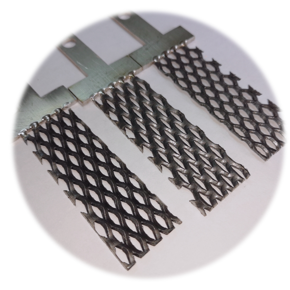 Ruthenium Iridium Oxide Coated <strong>grade</strong> 5 <strong>Titanium</strong> expanded Metal wire mesh