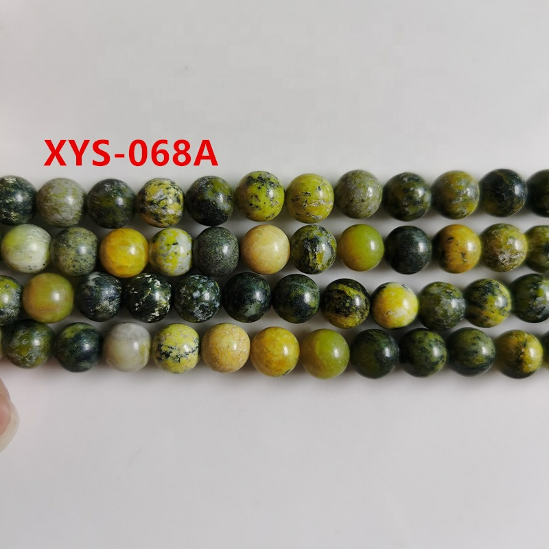 8mm turquoise olive drab natural gemstone loose semi precious stone beads
