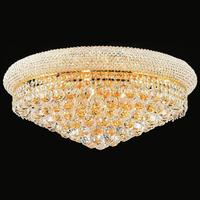 classic Golden crystal round ceiling lighting led chandeliers in Dubai low ceiling living room lighting decoration