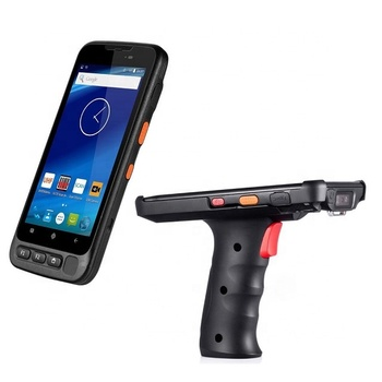 2D Wireless Android Barcode Scanner PDA NFC Wifi with pistol grip for Inventory management