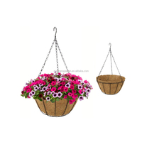 10inch coco hanging basket planter pot