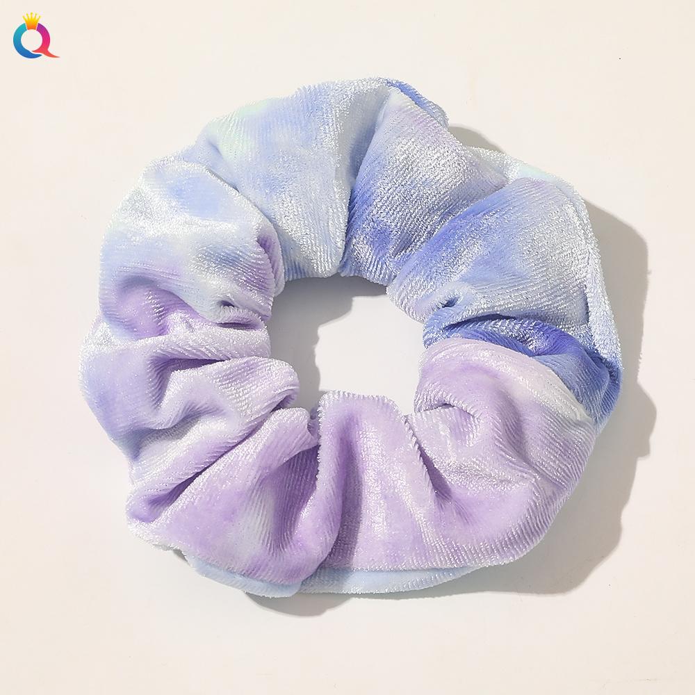 QIYUE оптовая продажа 2020 Galaxy градиентная расцветка; Высота тай-дай бархат атласная резинка для волос