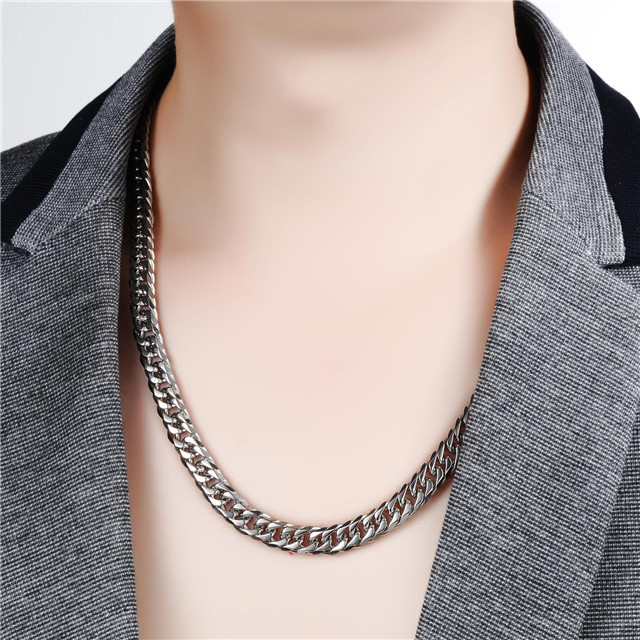 High Quality 8MM Width 60G 316L Stainless Steel Men Thick Chain Free Shipping
