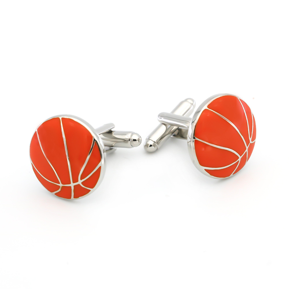 Men Fashion Basketball Shape Cufflinks Jewelry Type Custom Cufflink