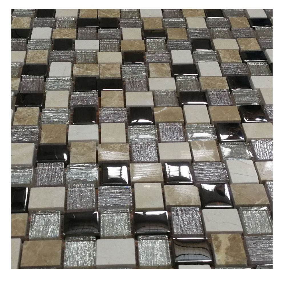 Hote selling Laminated Glass Mosaic Bathroom Wall Kitchen Backsplash Tiles For Home Decor