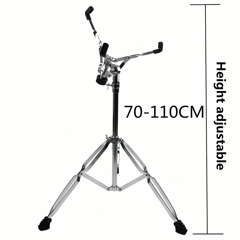 Extended Height Snare Stand Double Braced Dumb Drum Stand Adjustable Chrome Drum Stand