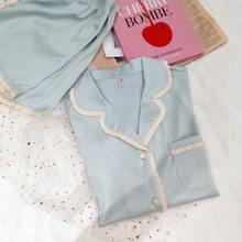 Пижама женская, летняя, розовая, шелковая, с шортами(Китай)