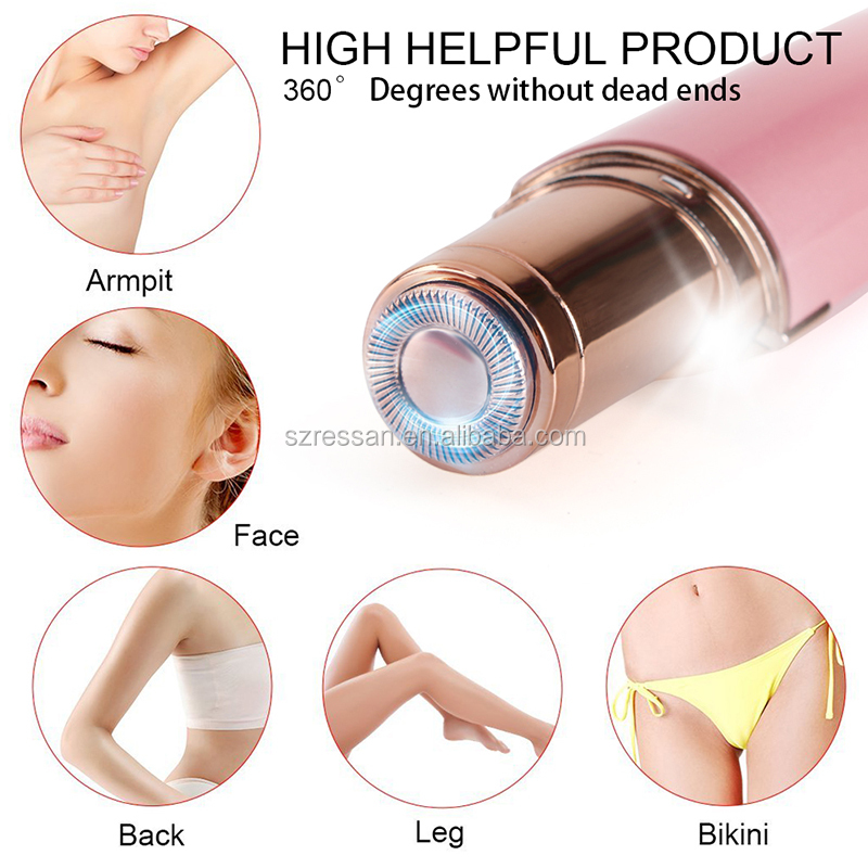 Rechargeable lipstick mini epilator portable Shaver electric face back hair removal for Lady Women and Girls Facial Hair Removal