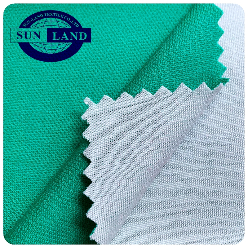 Oeko-tex standard one way wicking function knitted polyester pique mesh fabric for soccer uniform