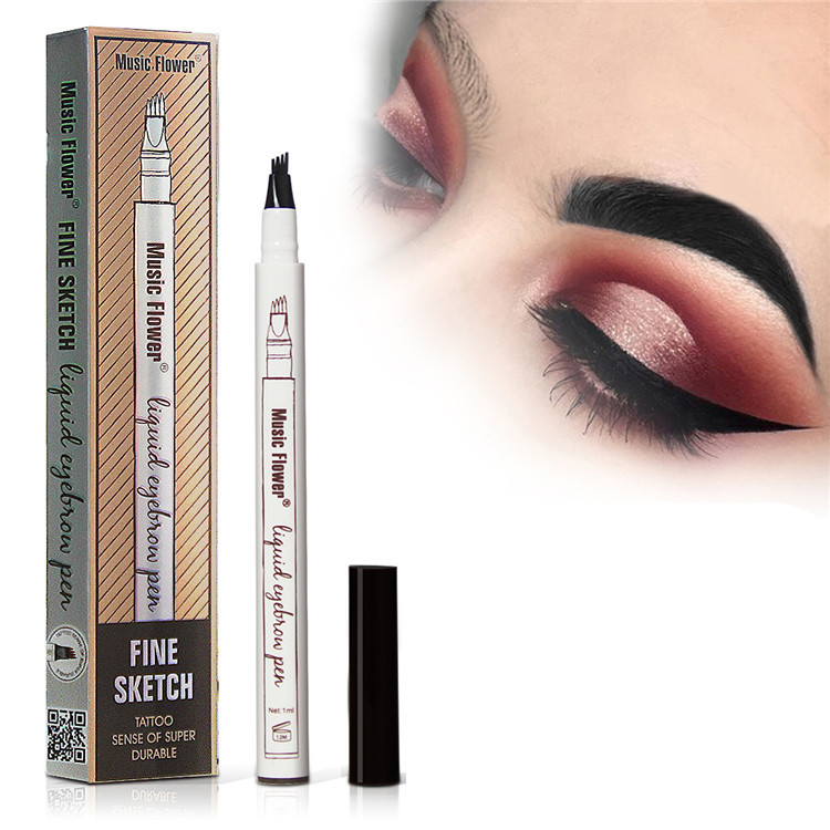 VANELC Eyebrow Pencil A Micro-Fork Tip Long Lasting Smudge-Proof Natural Hair-Like Defined Brows And Stays On All Day Crayon