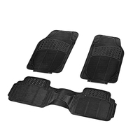 3PCS Car Truck Custom PVC Floor Mats Carpet Front & Rear car mats general floor mat for car