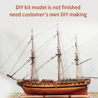 Assembling Building Kits Wood Ship Model Diy Assembled Wooden Model Ships Sailboat Modeling Toy