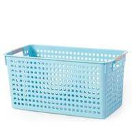 Chinese clothes shoes plastic storage basket without lid
