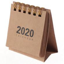 Хит продаж, 1 шт., 2020, милые мини простые настольные календари с катушкой, Мультяшные мини настольные календари, сделай сам, блокнот для замет...(Китай)
