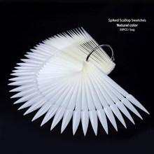 Накладные наконечники для ногтей, палочки, прозрачные Натуральные Цветные Дисплейные наконечники для дизайна ногтей, тренировочные палочк...(Китай)