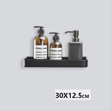 Черная космическая алюминиевая кухонная полка для ванной комнаты, одноярусная полка для шампуня, Балконная полка(Китай)