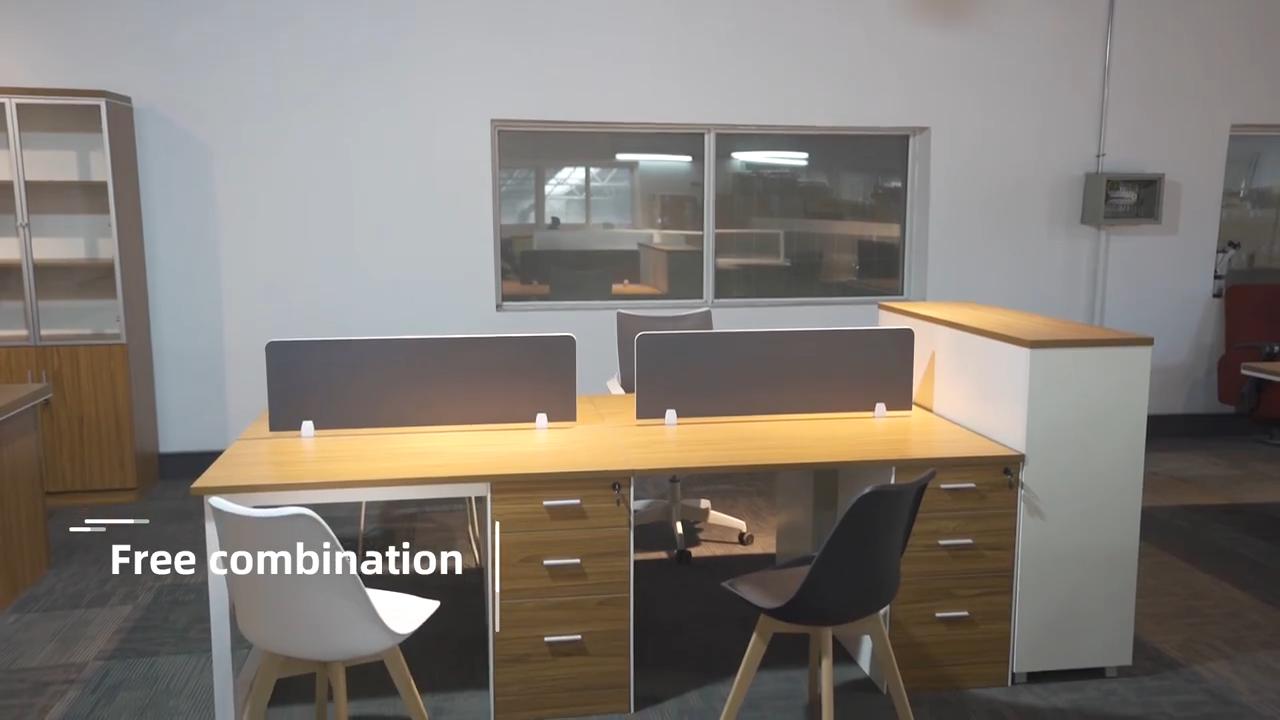 Buena calidad estación de trabajo de oficina cubículo 4 persona estación de trabajo