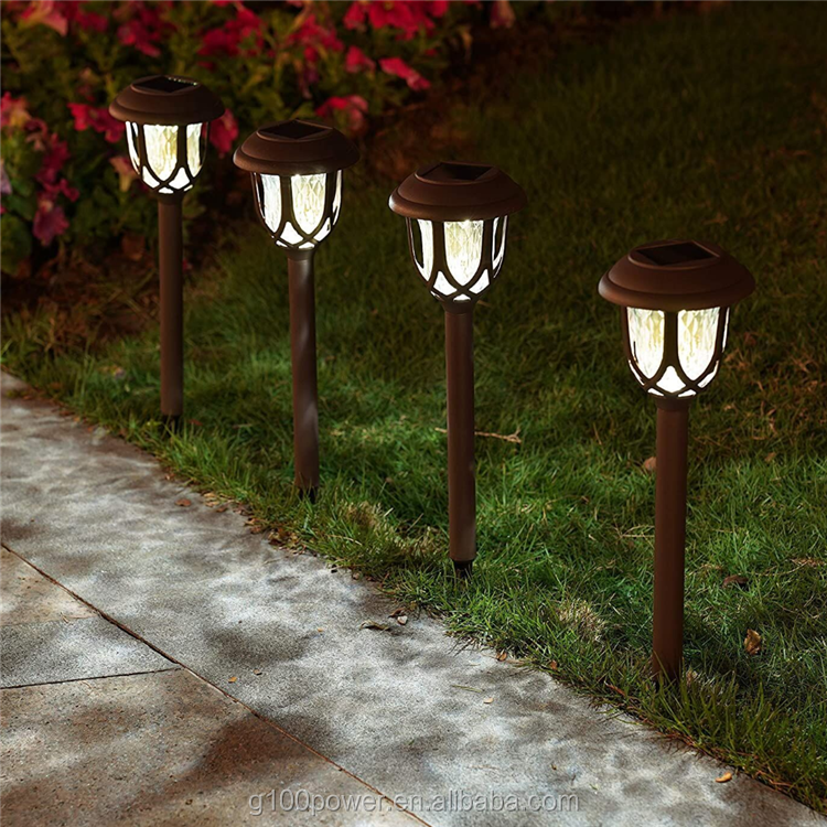 Solar House Pathway Garden Lights Stakes for Lawn Patio