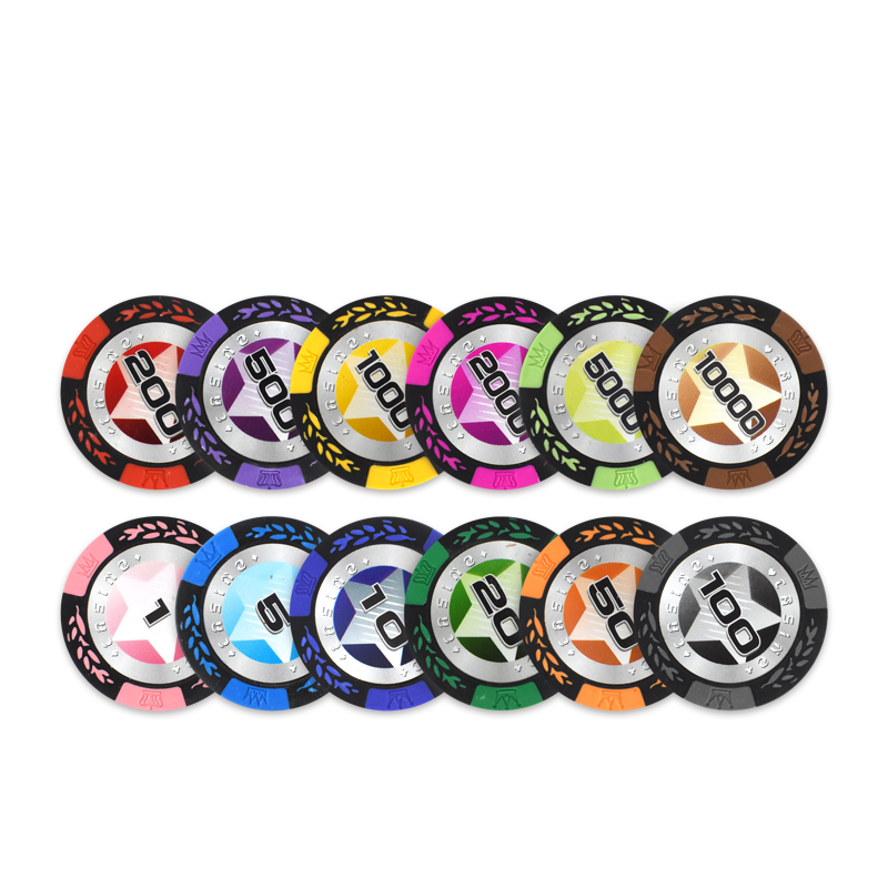 YH Clay Classic Casino Chips 5 Colors Texas poker chips set