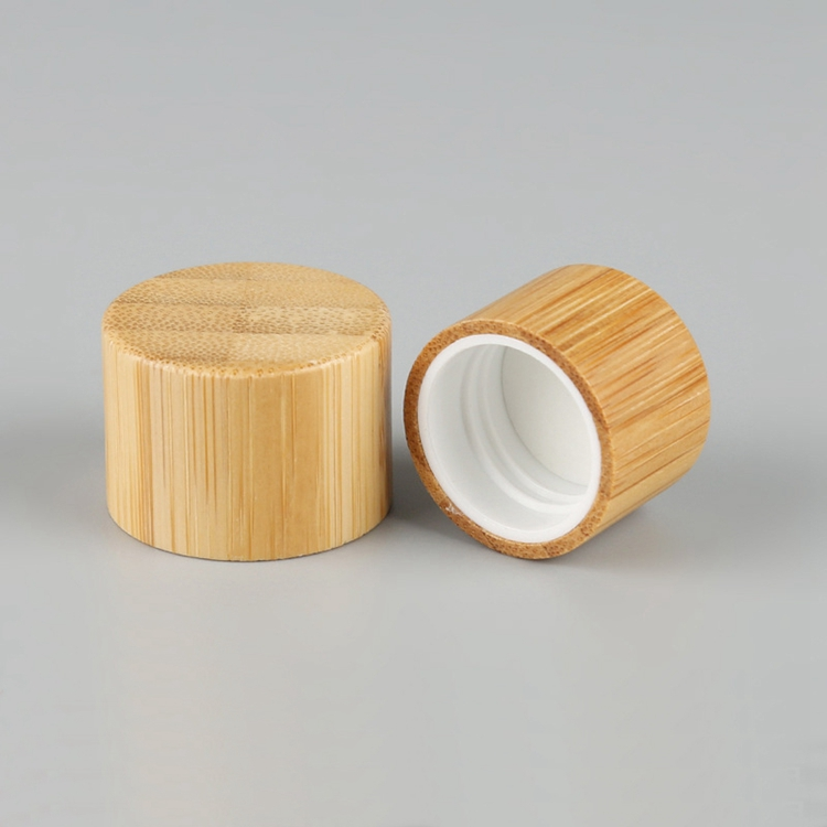 Bamboo and <strong>wood</strong> <strong>products</strong> cosmetic packaging bottle cap 18/20/24/410 plastic bottle spiral lid 20mm 24mm bamboo screw cover