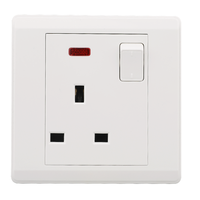 VGT Factory Direct13A wall Switch and Socket 3 pin British Standard Socket and switch