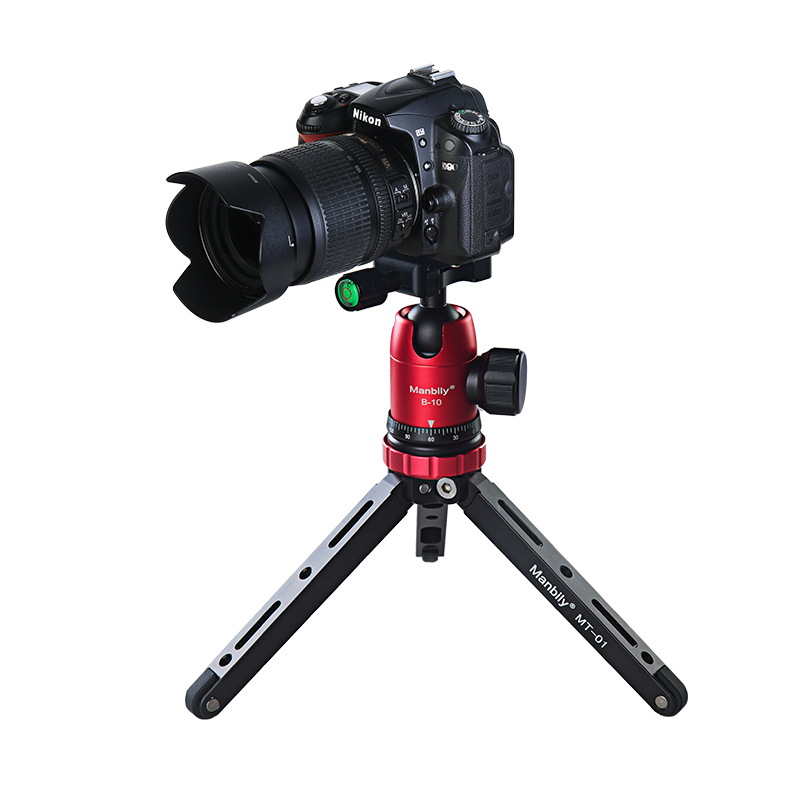 Manbily MT-01 + B-10 Mini Tafelblad Statief Met Camera Ball Head Quick Release Plate Voor Sony Camon Camera Schieten