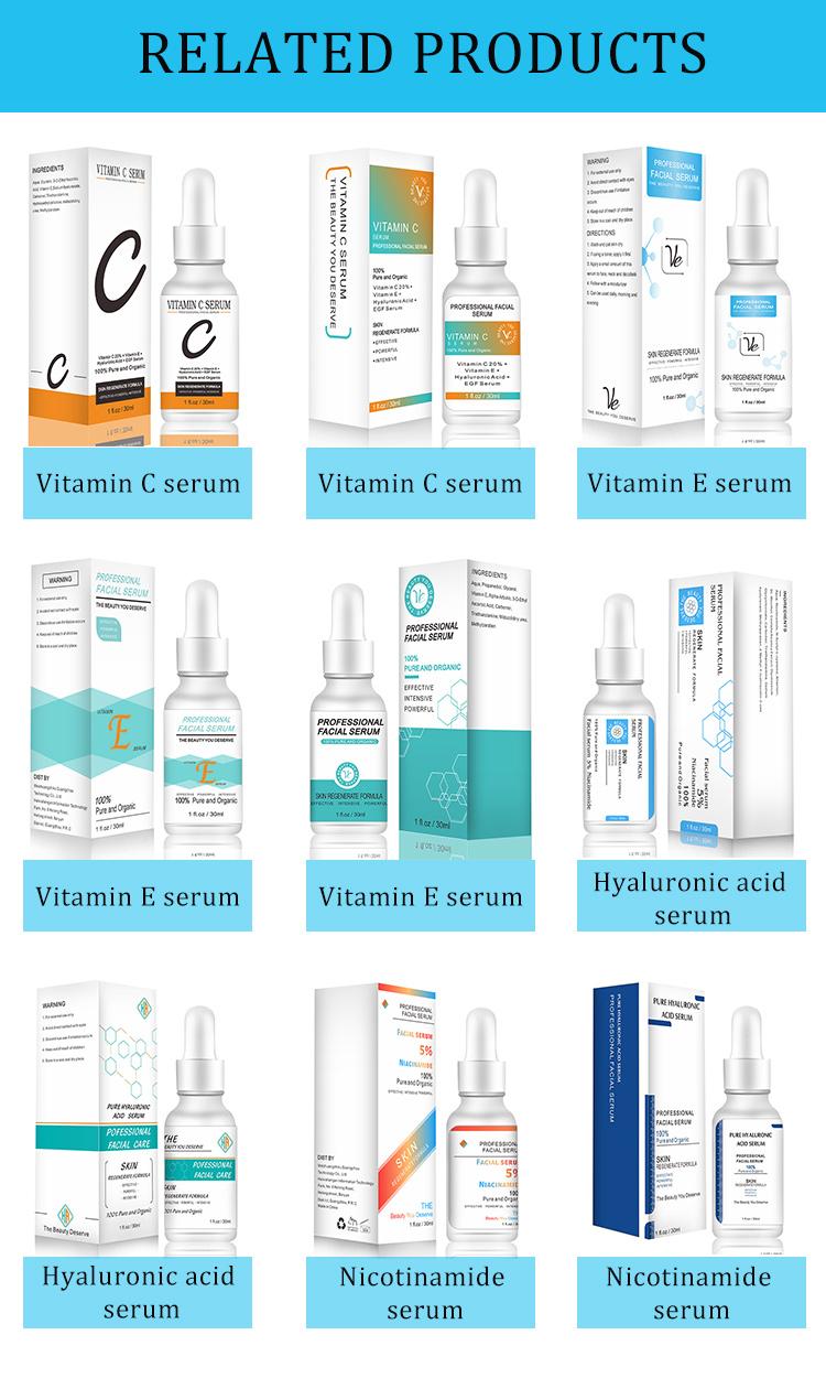 Fda Fabriek Oem Natuurlijke Korea Schoonheid Huidverzorging Gezicht Niacinamide Ampul Facial Whitening Serum
