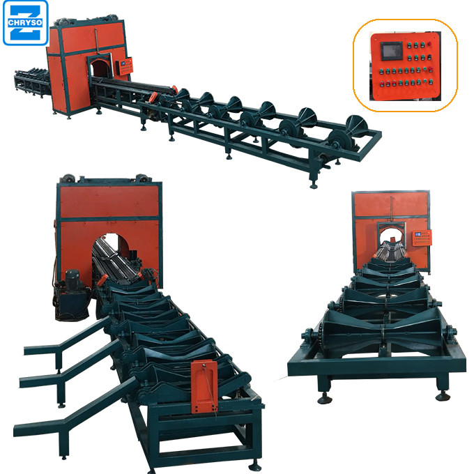 Wood Round log cutting Multi Rip Saw Production Line for sale