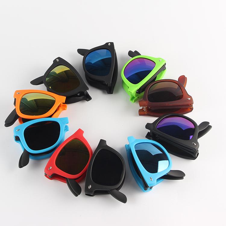 Free sample Cheap brand design unisex original promotion glasses folding foldable sunglasses