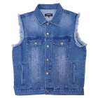 OEM service mens sleeveless denim jacket vest jeans denim vest wholesale