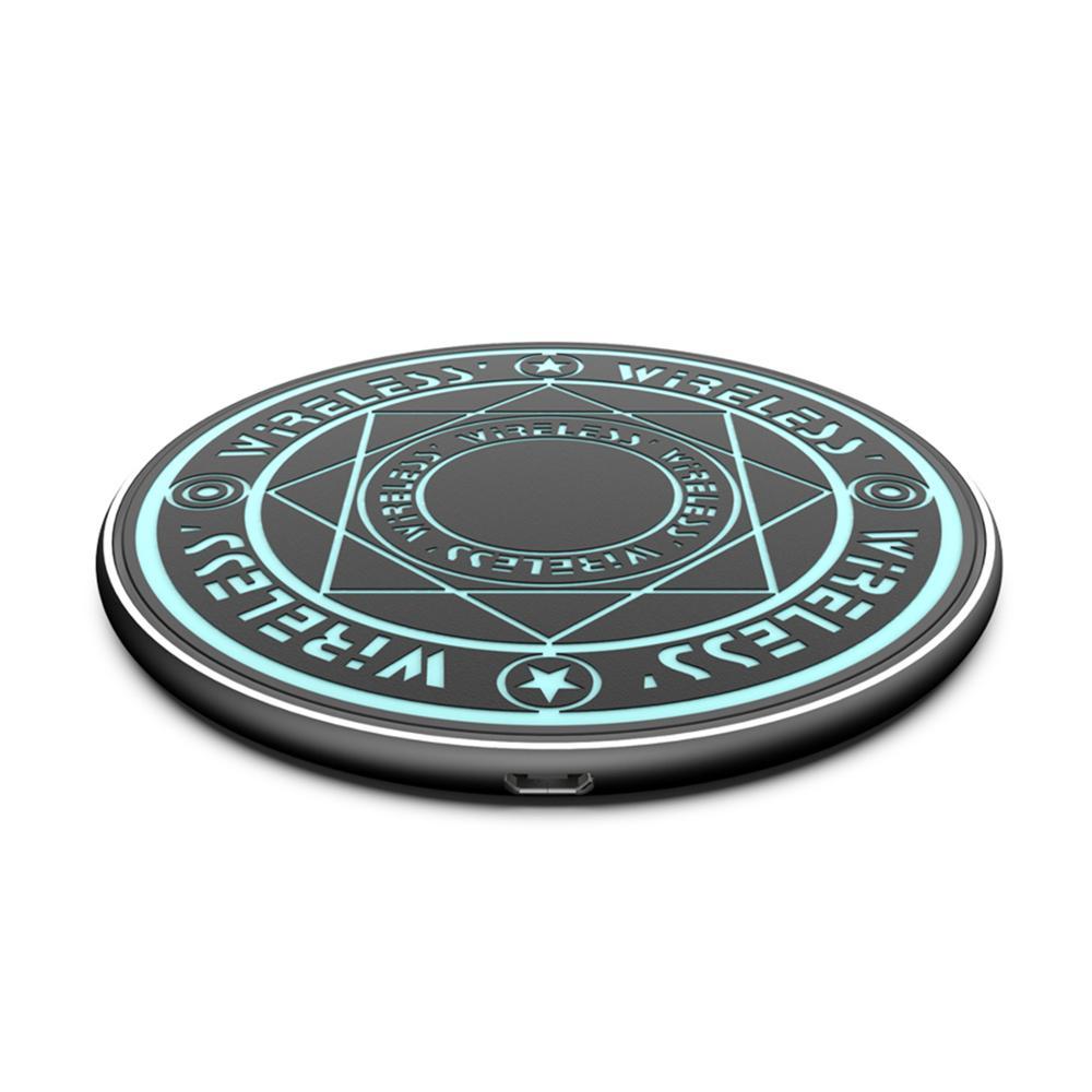 WELUV Universale 10W Caricatore Senza Fili FAI DA TE Magic Circle Modello Glow Logo Personalizzato Regalo Di Natale