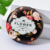 Promotional flower design portable small pocket mirror makeup folding cosmetic mirror personalized custom compact mirrors